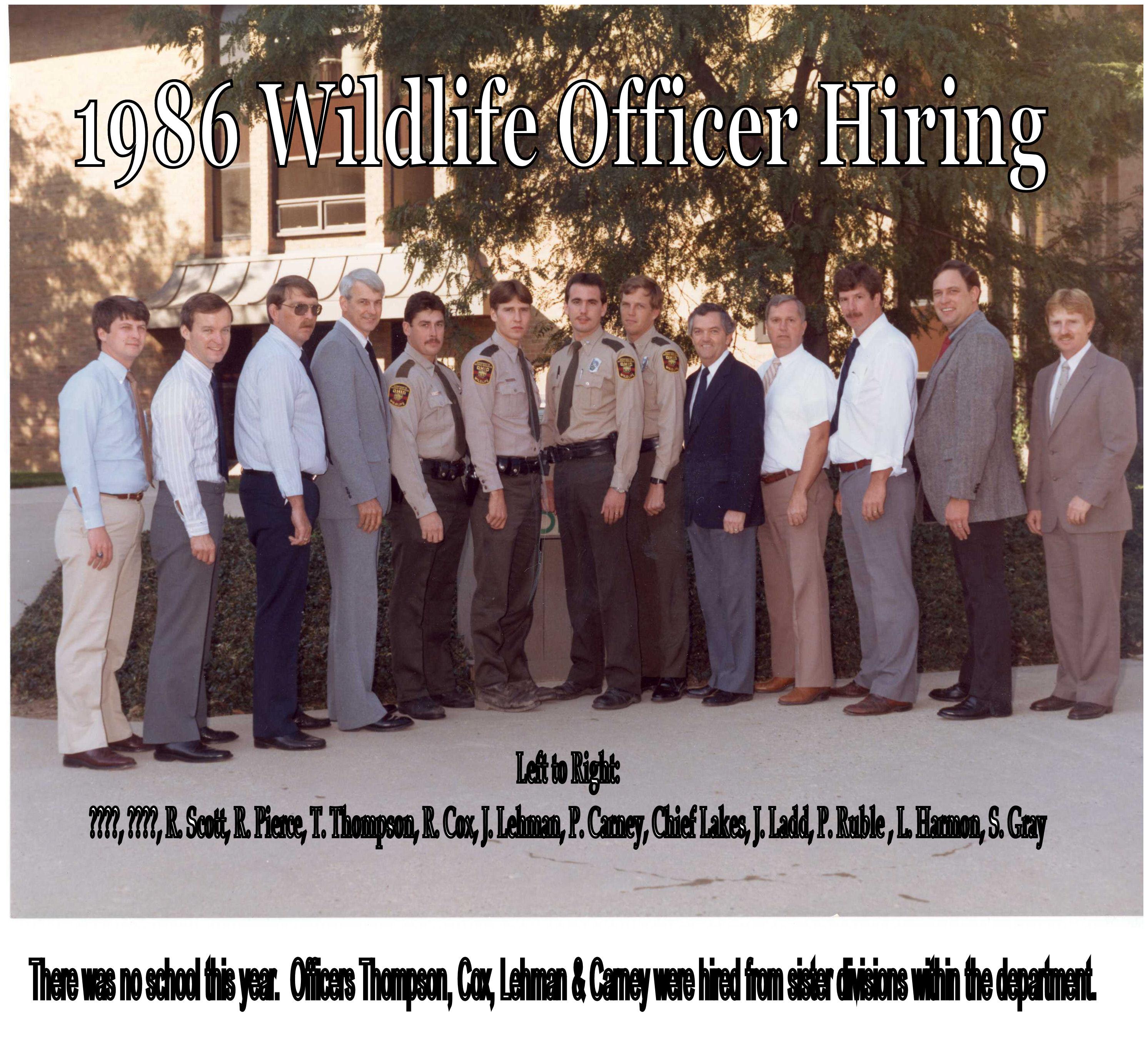 1986 Cadet class